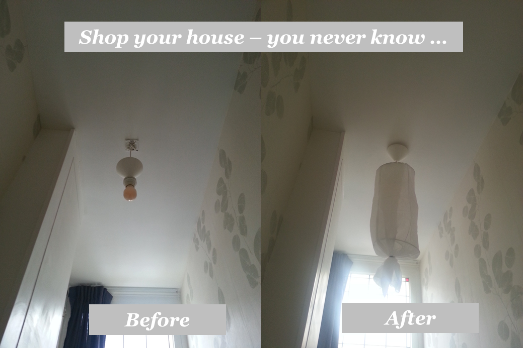 lampshade DIY before and after