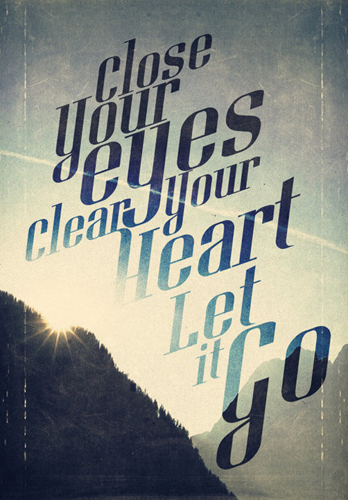close your eyes let it go poster etsy shop promopocket