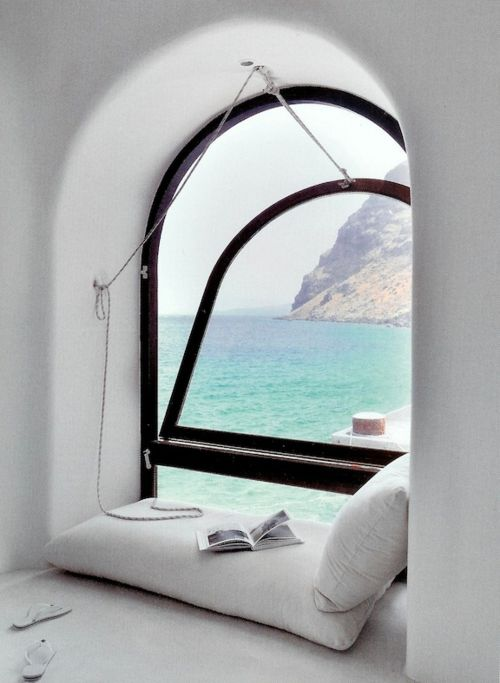 greek island window seat