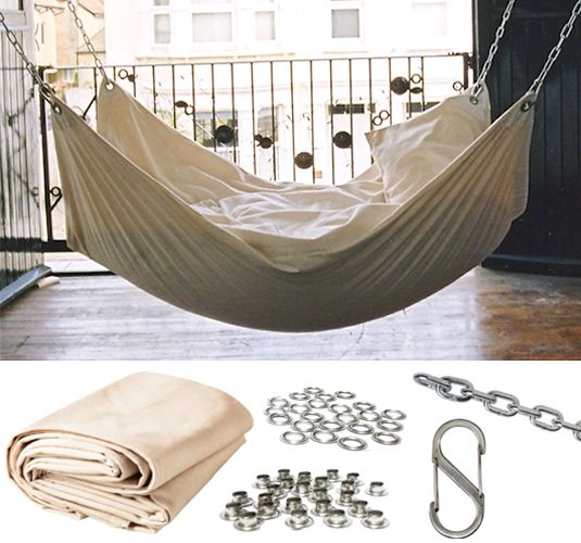 DIY Summer Hammock via Remodalista