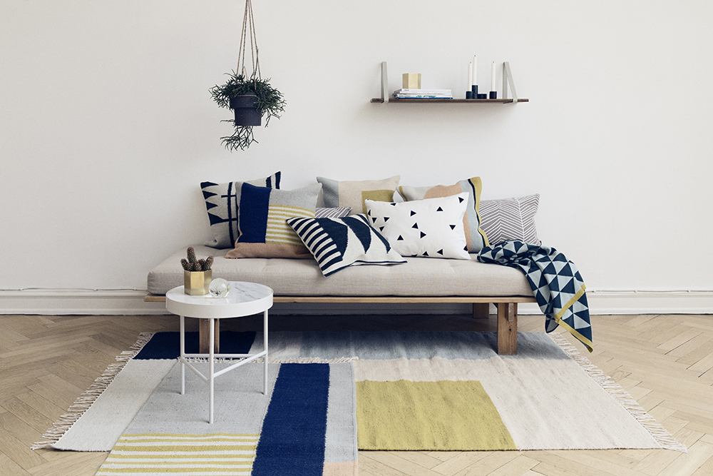 ferm living aw 2014 iving room layered kelim rugs