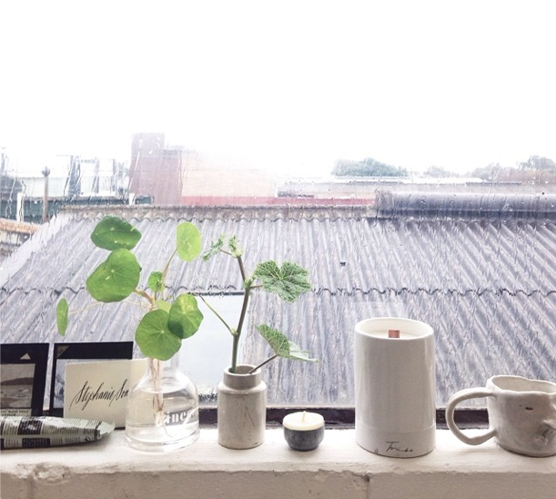 window sill styling with ceramincs an plants Stepanie Somebody.jpg