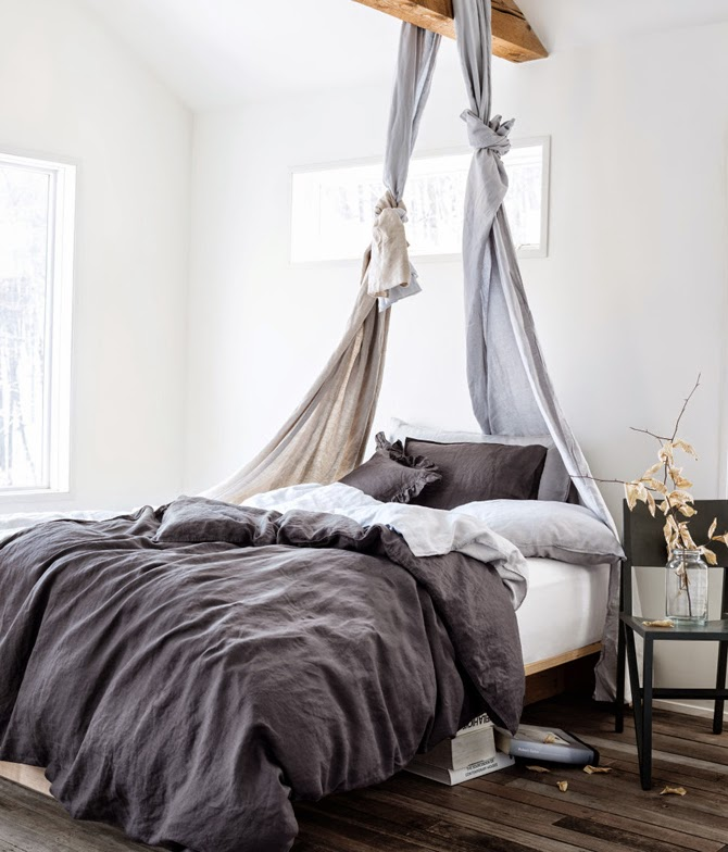 grey autumn bedroom via stillinspiration