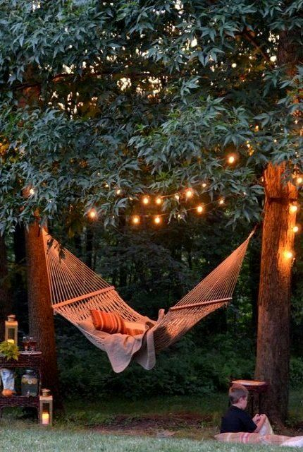 string lighting hammock
