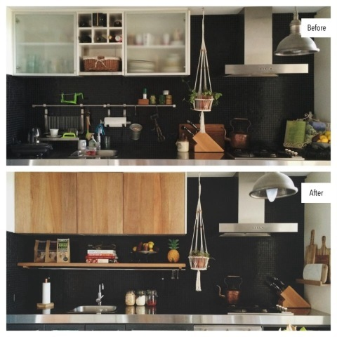 lara hotz before after kitchen transformation diy apartmentdiet