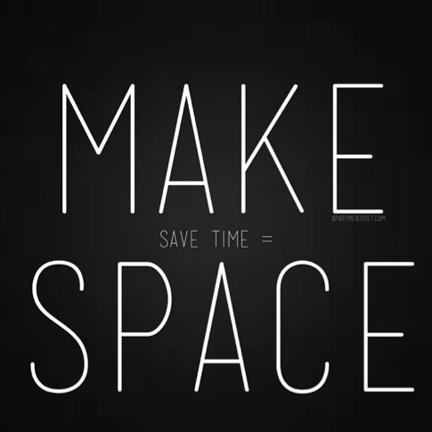 how to save time - make space apartmentdiet quote natalie shell tip moore