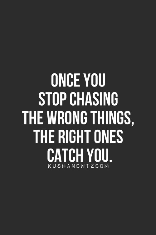 stop chasing wisdom quote